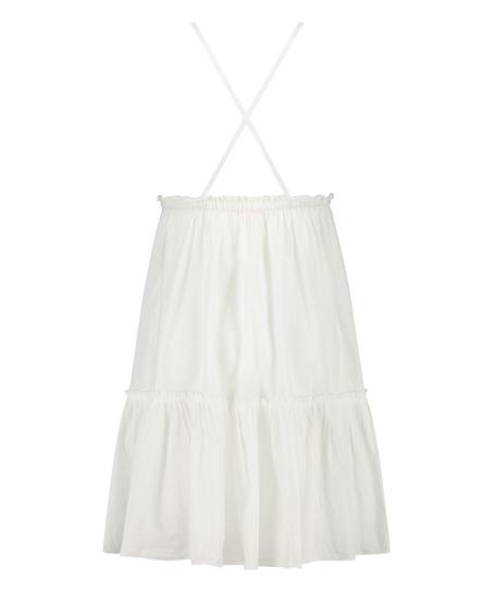 Tiered beach dress, White