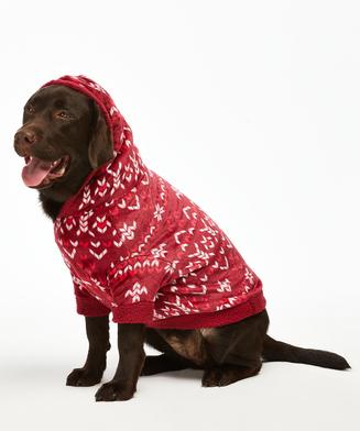 Dog's Fleece Onesie, Red