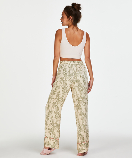 Woven Pyjama Bottoms, Beige