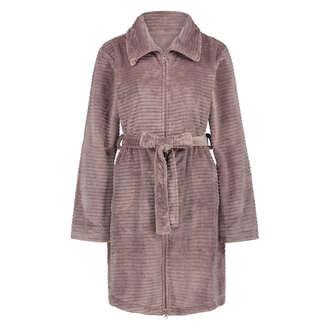 Fleece zip bathrobe, Pink
