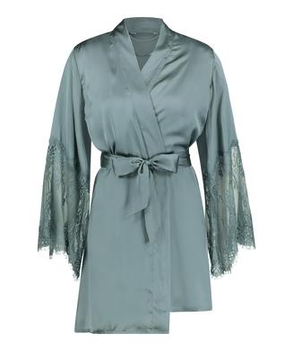 Satin Kimono, Green