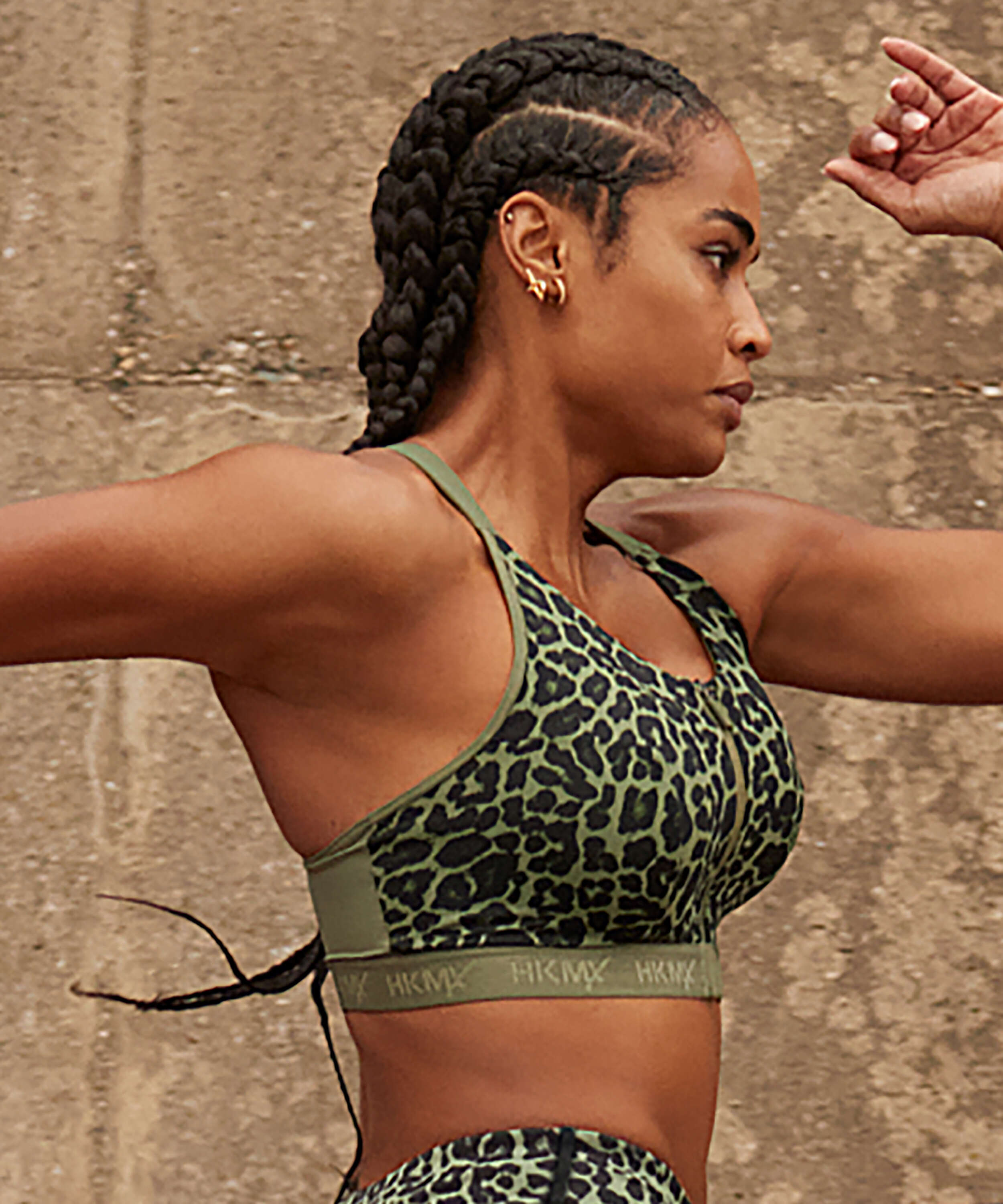 HKMX Sports bra The Pro Level 3, Green, main