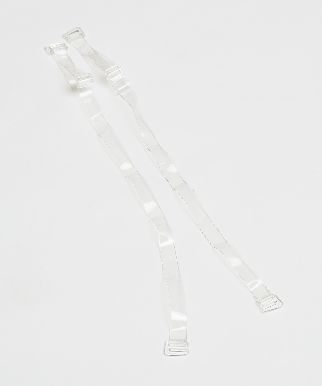 Transparent Bra Straps D Cups Or Larger, White, main