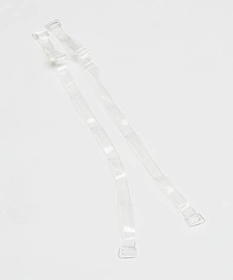 Transparent Bra Straps D Cups Or Larger, White