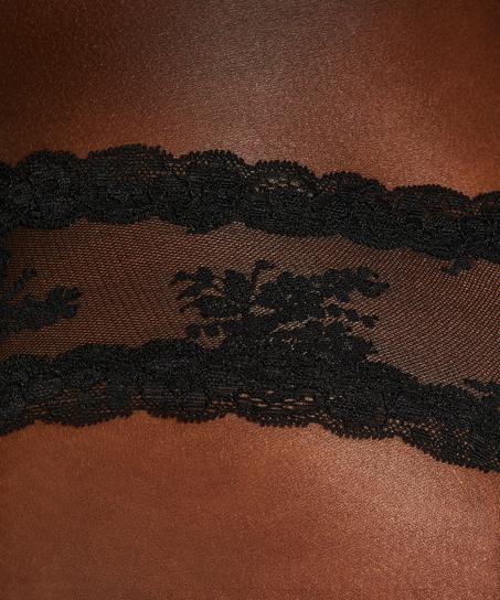 V-shaped Brazilian mesh, Black
