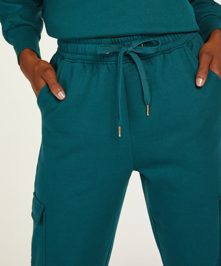 Tall cargo joggers, Blue