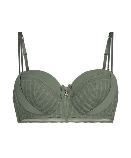 Kriss padded strapless underwired bra I AM Danielle, Green