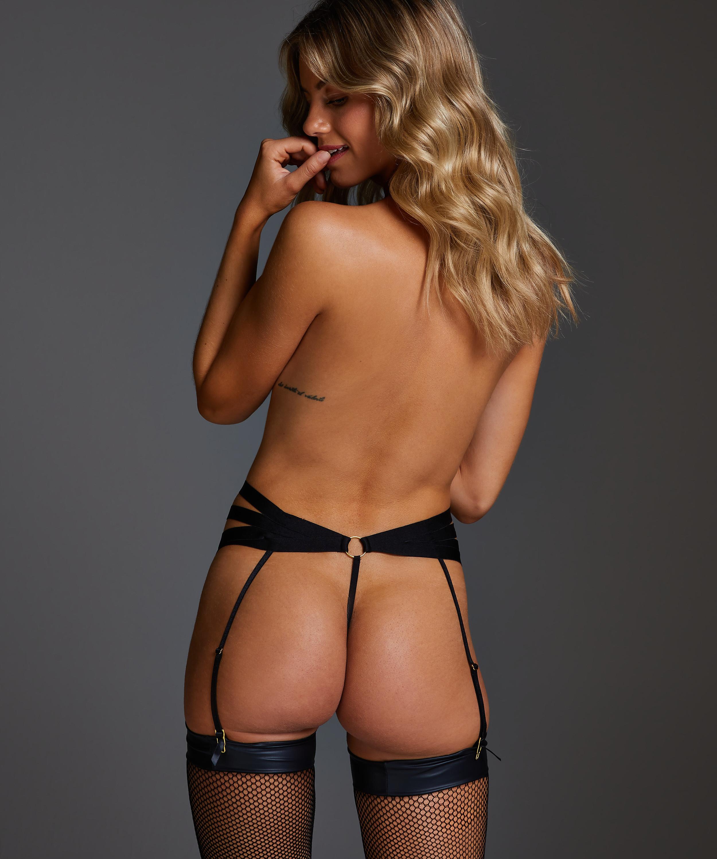 Femme High Leg Thong, Black, main