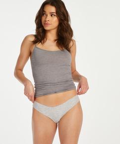Invisible cotton thong, Grey