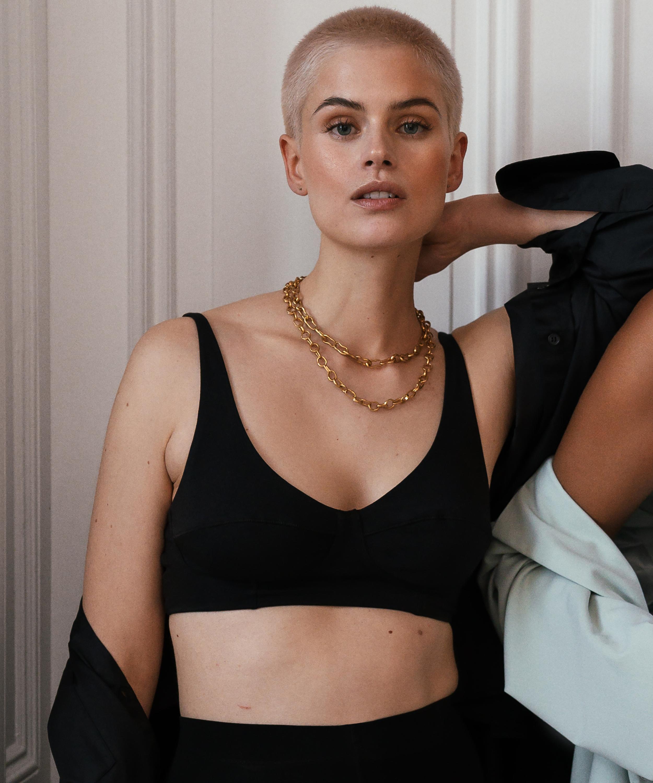 Bralette Ovia HKM x NA-KD, Black, main