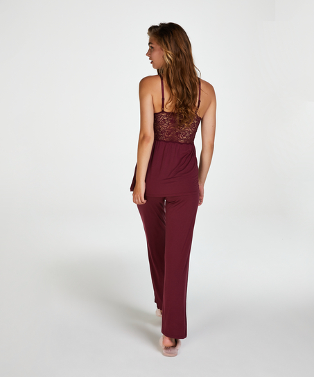 Vera Lace Pyjama Set, Red