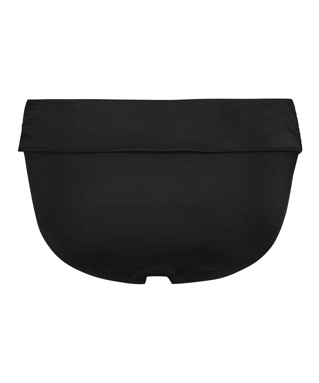 Sunset Dream Fold Over Bikini Bottoms, Black, main