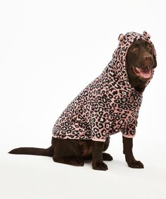 Dog's Fleece Onesie, Pink