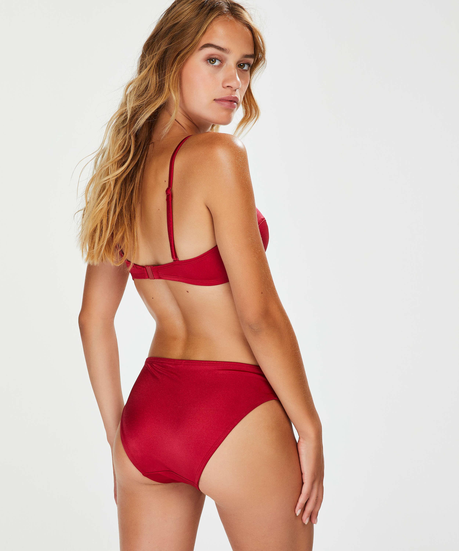 Lola Padded Push-Up Underwired Bikini Top, Red, main