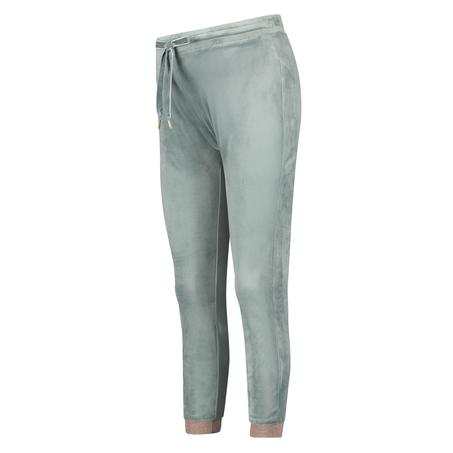 Velour Lurex Jogging Bottoms, Green
