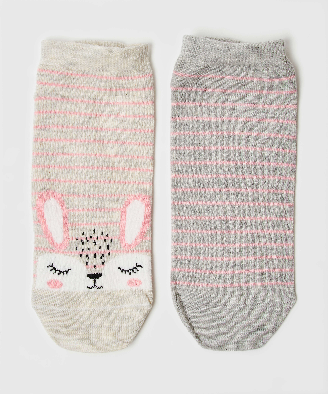2 Pairs Of Socks, Grey, main