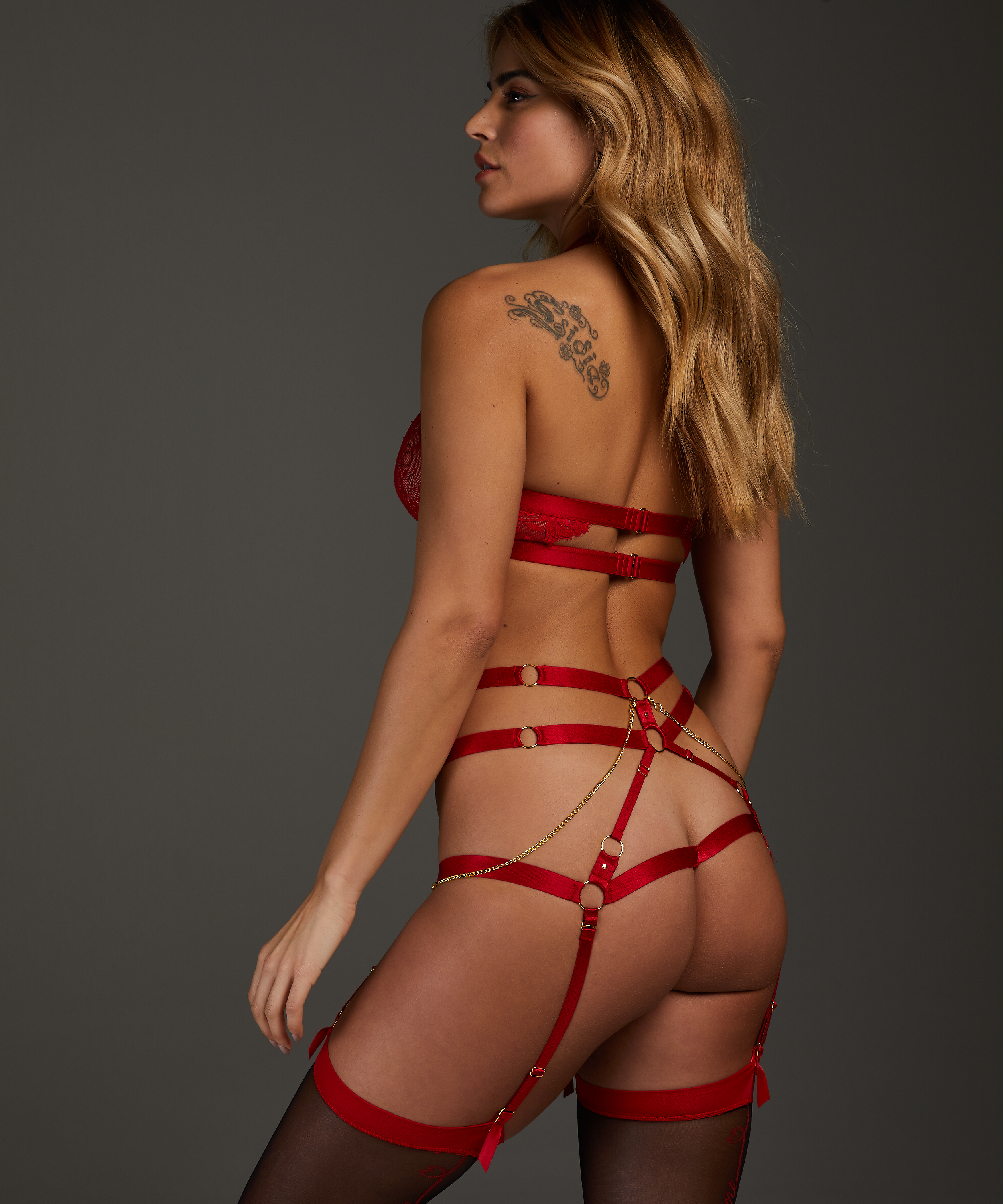 Tenessee open crotch knickers, Red, main