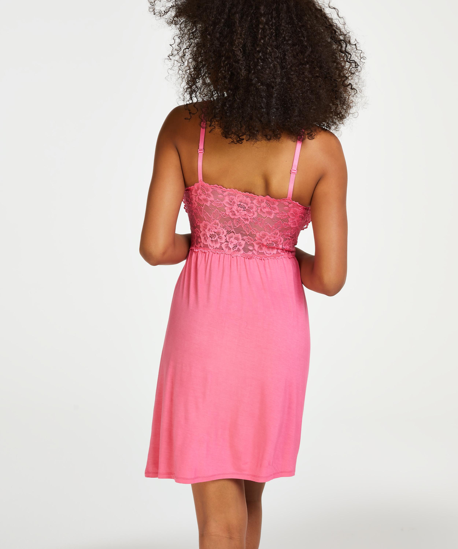 Nora Lace Slip Dress, Pink, main
