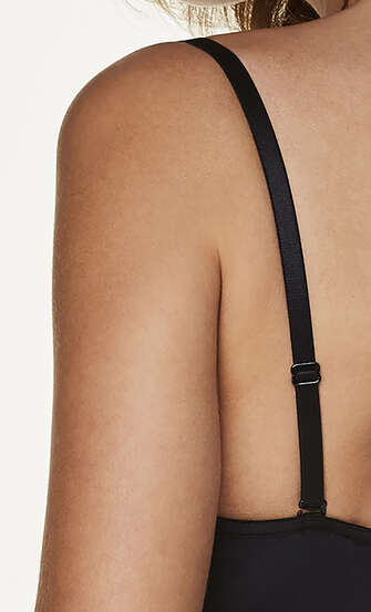 3-Pack Basic Bra Straps, Black