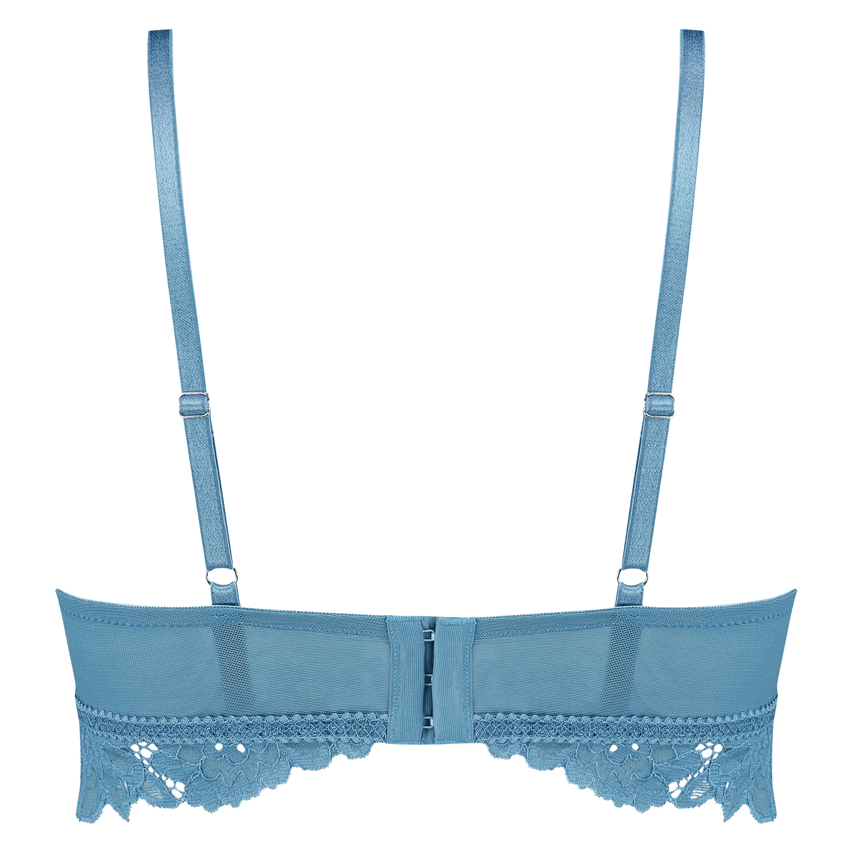 Shiloh Padded Longline Non-Underwired Bra , Blue, main