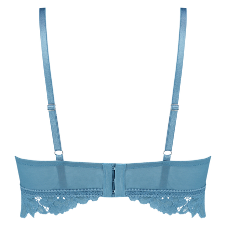Shiloh Padded Longline Non-Underwired Bra , Blue