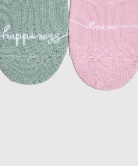 2 pairs Lasercut Footsies, Green