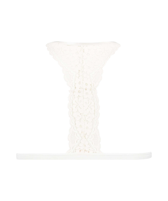 Rose Padded Triangle Bralette, White, main
