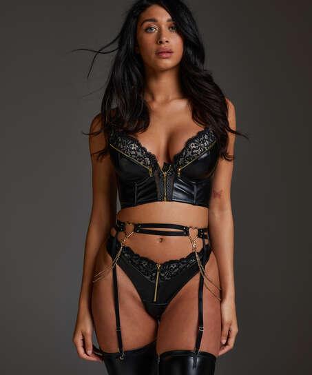 Heart suspender, Black
