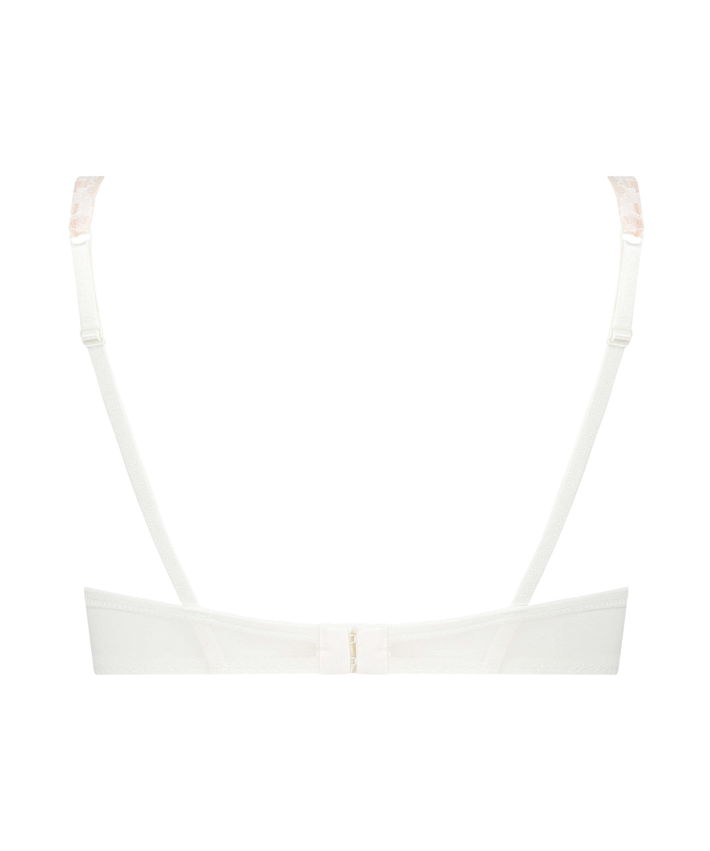 Leyla non-padded underwired bra, White, main