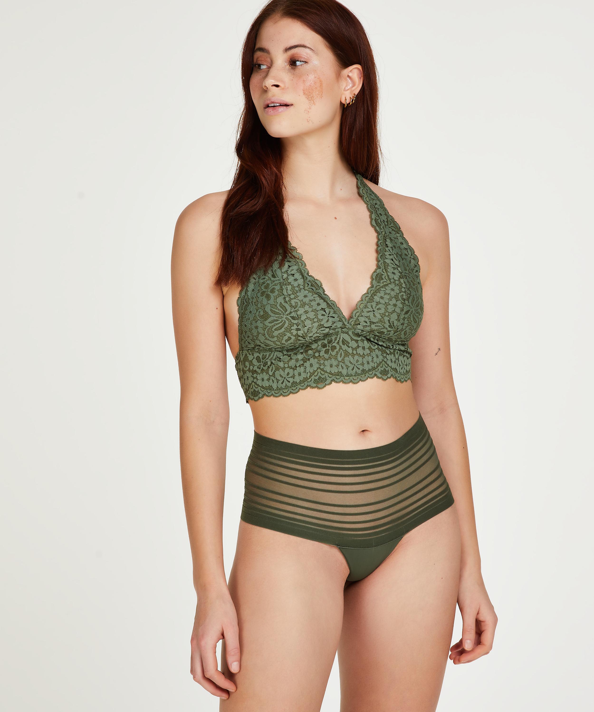 Invisible high thong, Green, main