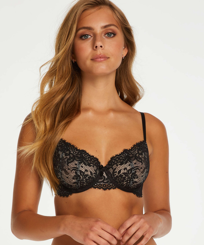Cardi non-padded underwired bra, Black, main