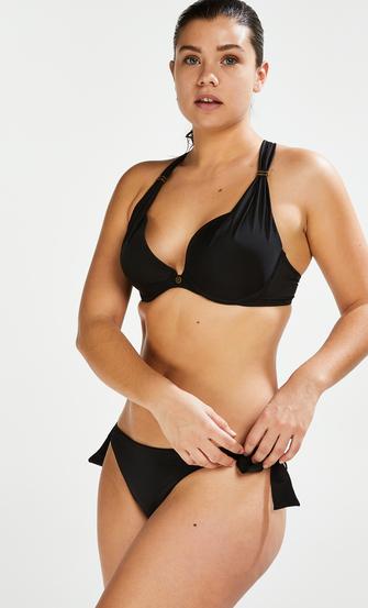 Sunset Dream Brazilian bikini bottoms, Black