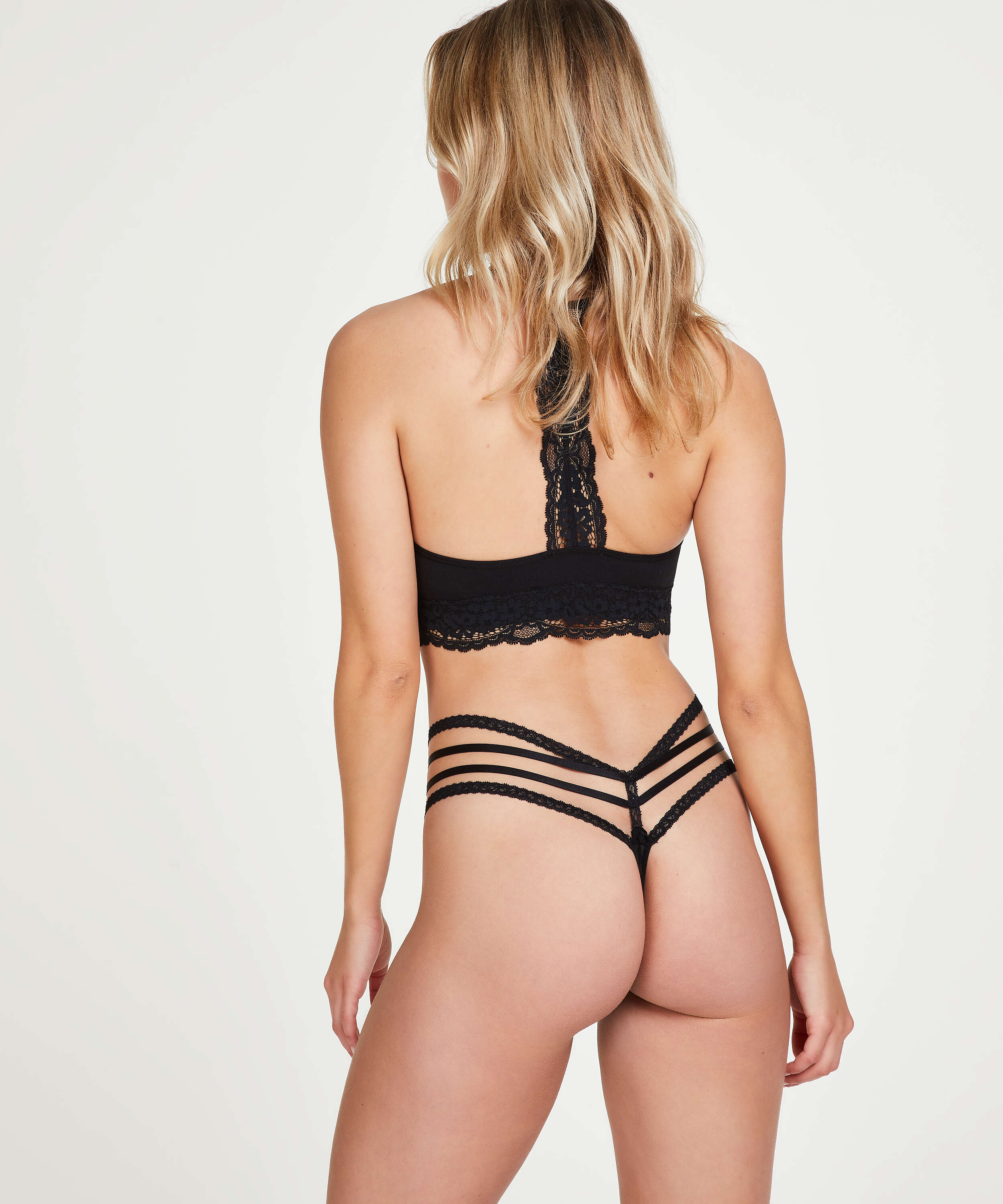 Bonnie low thong, Black, main