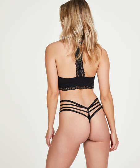 Bonnie low thong, Black
