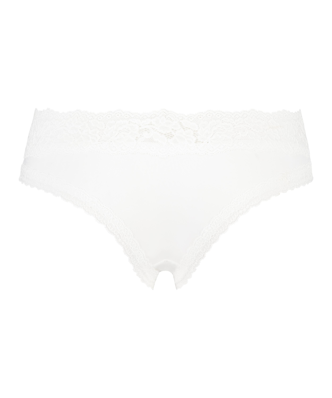 Dakota Brazilian Shorts, White, main