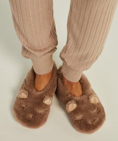 Ballerina slippers, Brown