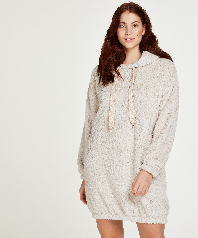 Snuggle Fleece Dress, Beige, main