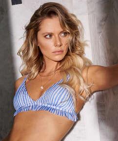 Julia triangle bikini top, Blue