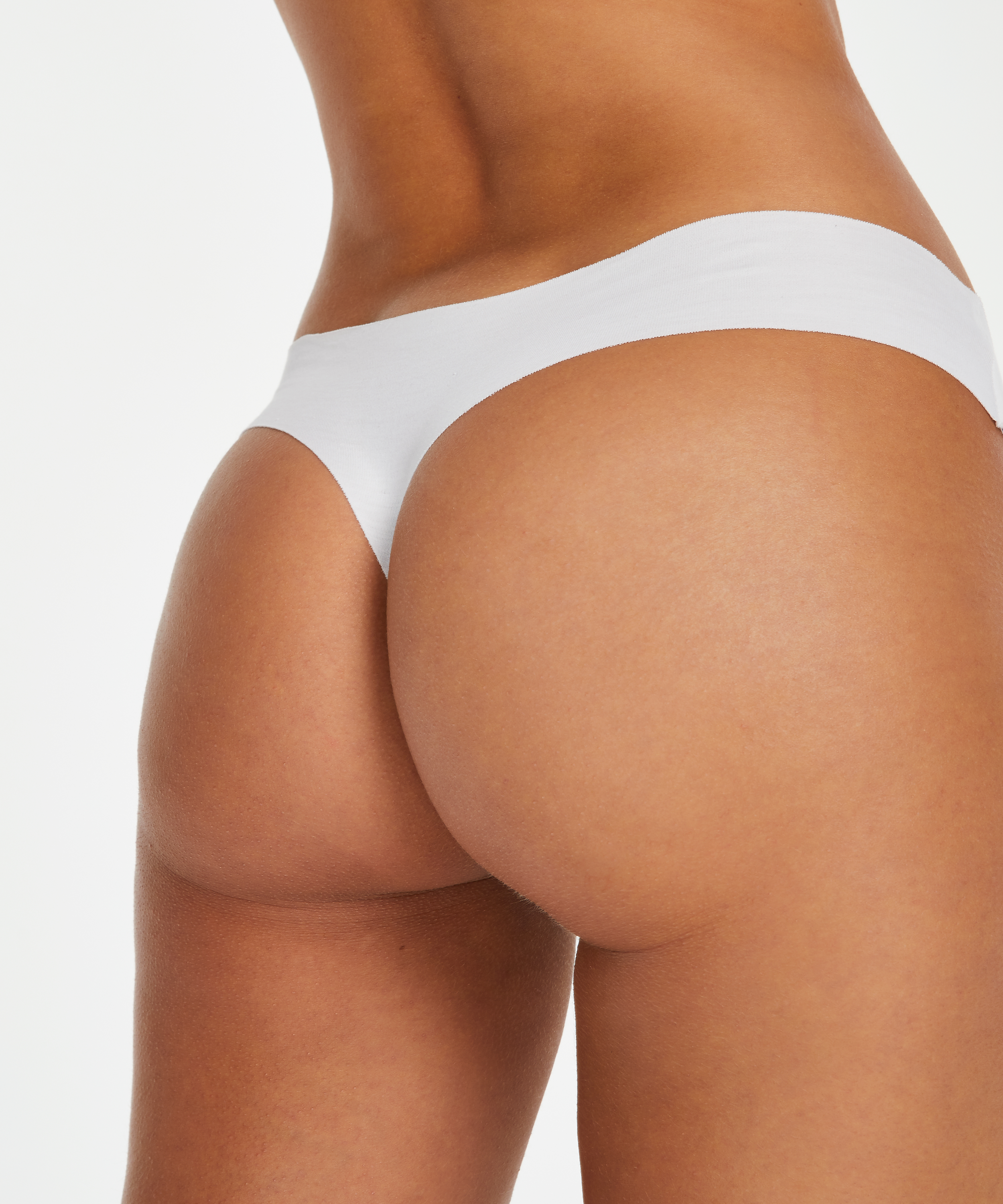 Invisible cotton thong, White, main