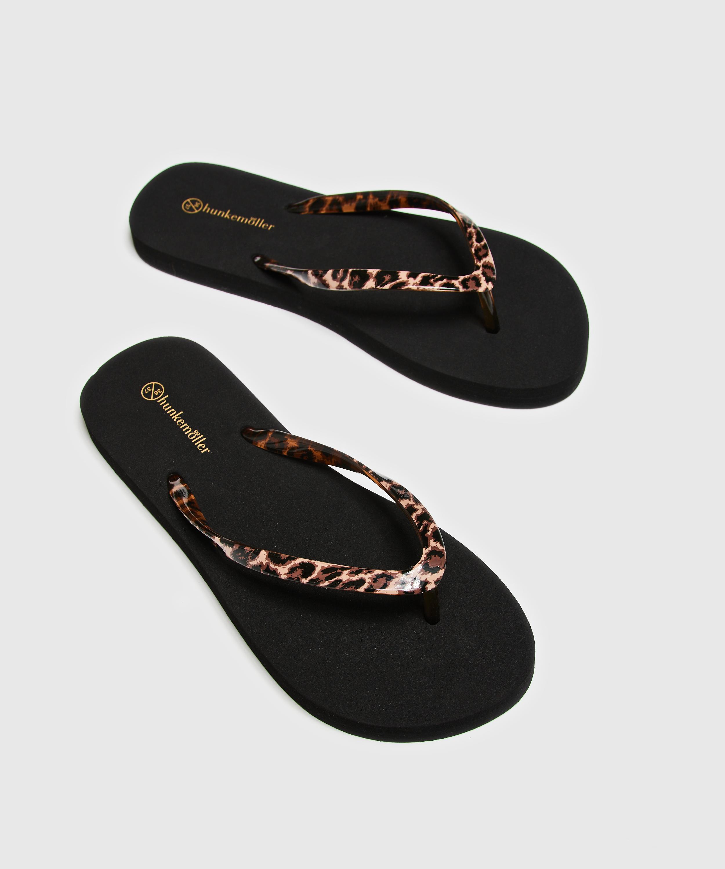 Fancy flip-flops, Black, main