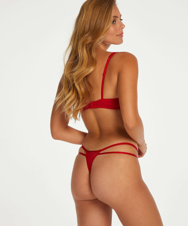 Leyla non-padded underwired bra, Red, main