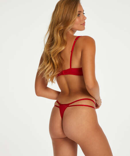 Leyla non-padded underwired bra, Red
