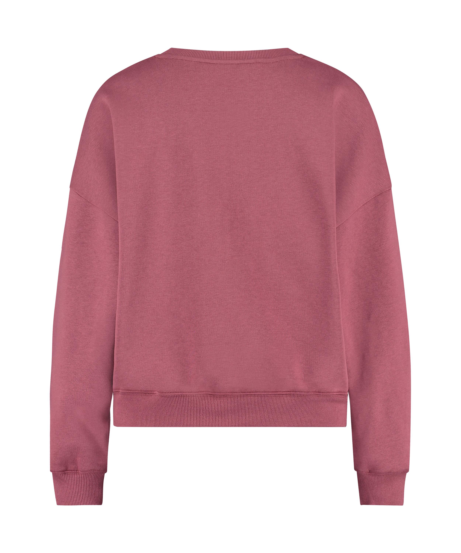 Brushed Long Sleeved Boyfriend Top, Pink, main