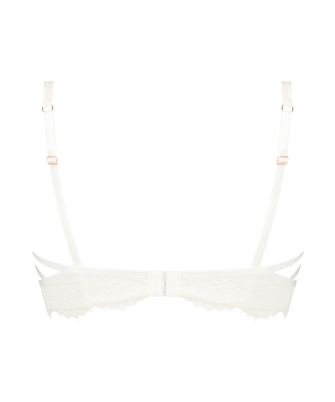 Eve Non-Padded Longline Underwired Bra, White, main