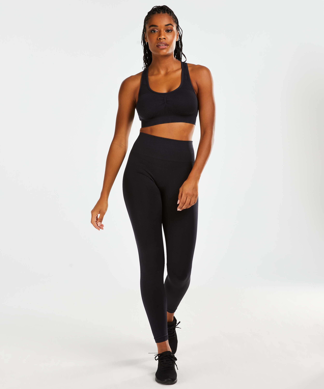 HKMX Sport bra Flex Level 1, Black, main