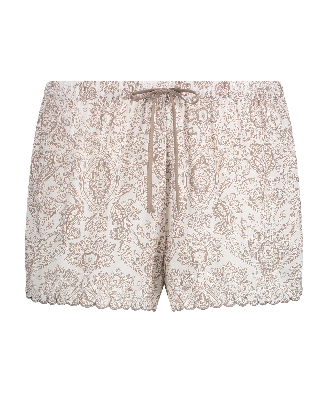 Pyjama shorts, White, main