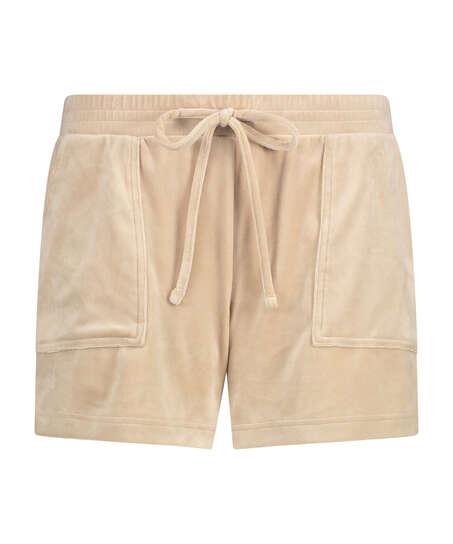 Velvet Pocket shorts, Beige
