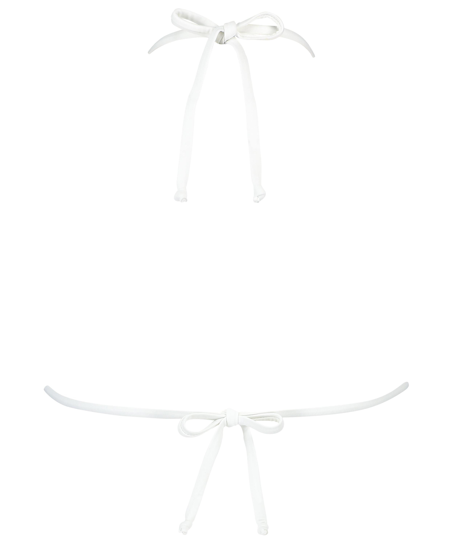 Maldives triangle bikini top, White, main