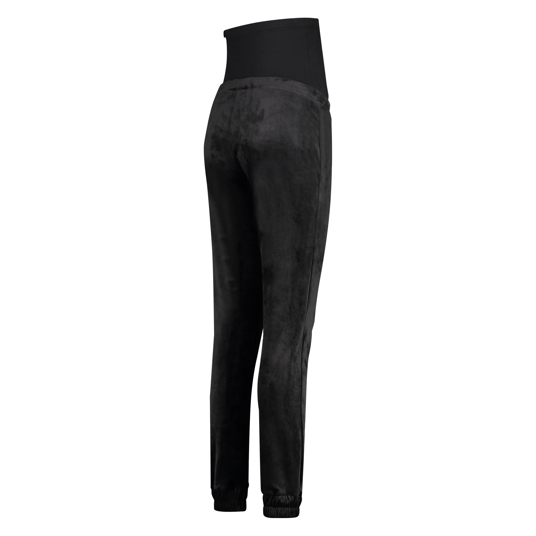 Velvet Shimmer maternity jogging bottoms, Black, main