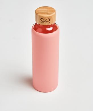 Glass water bottle, Pink